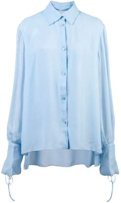 Carolina Herrera tie cuffs shirt
