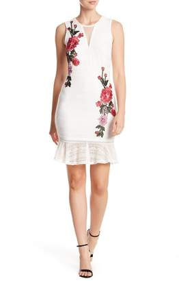 Bebe Embroidered Lace Tank Dress