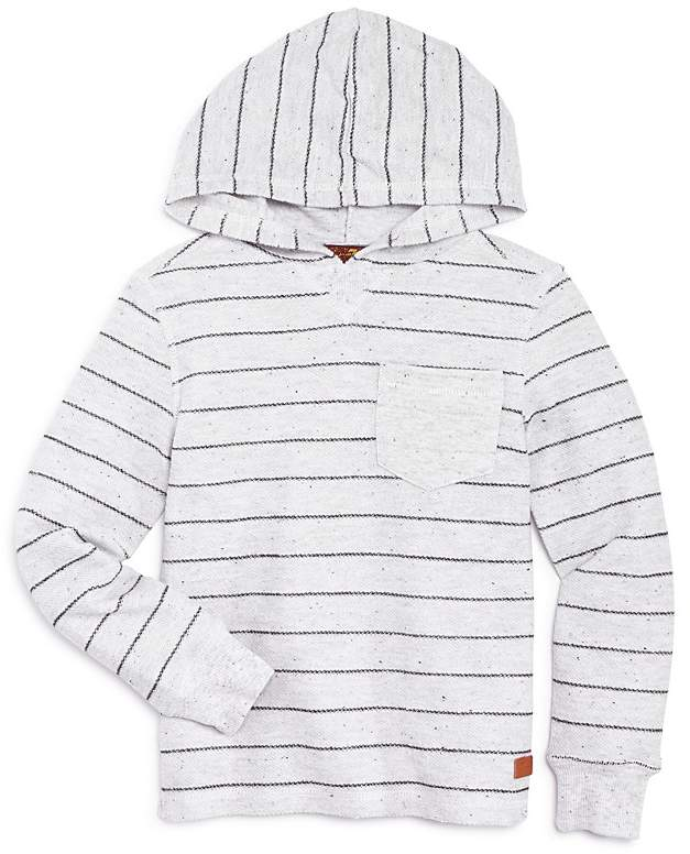 Boys' Striped Reverse French Terry Hoodie - Little...