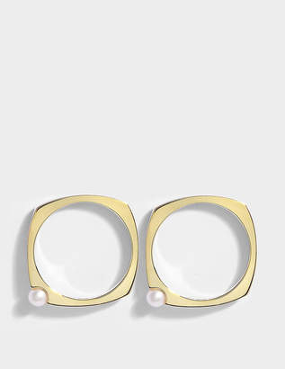 ALIITA Earrings in 9K Yellow Gold with Pearl
