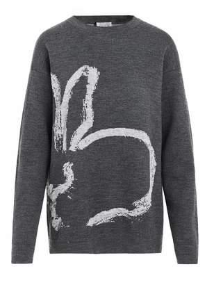Jason Wu Grey By Greyout Intarsia Bunny Sweater