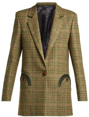 Blazé Milano Blaze Milano - Ninja Wool Tweed Blazer - Womens - Green Multi