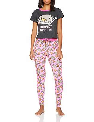 Pusheen Women's Night in Pyjama Sets,(Size: 10-12)