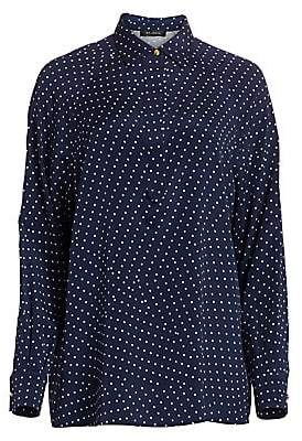 St. John Women's Asymmetric Polka Dot Tunic