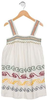 Stella McCartney Girls' Embroidered Sleeveless Dress