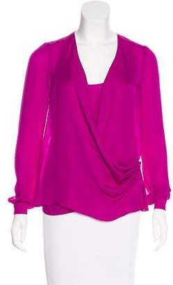 Wes Gordon Long Sleeve Silk Blouse