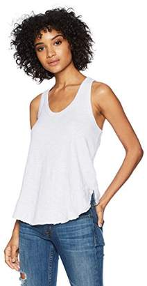 Wilt Women's Shrunken Ruffle Shirttail Tank