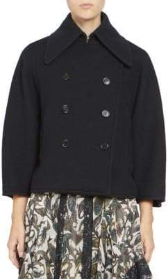 Chloé Iconic Soft Wool Cropped Peacoat