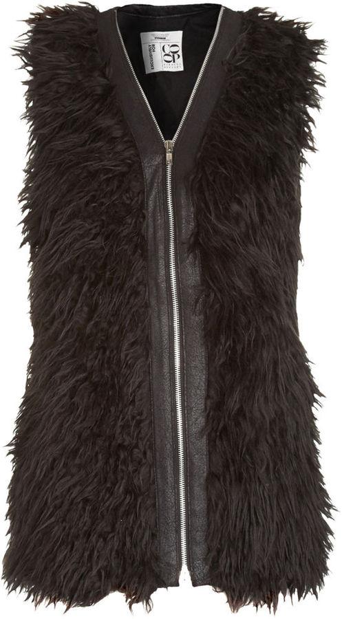 Democracy of Nevermind Faux Fur Vest