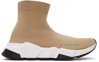 Balenciaga Beige Speed Sneakers
