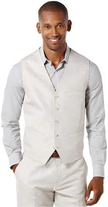 Perry Ellis Men's Linen Solid Vest