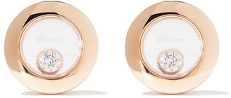 Chopard 18kt rose gold Happy Diamonds Icons ear pins