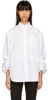Junya Watanabe White Gathered Shirt