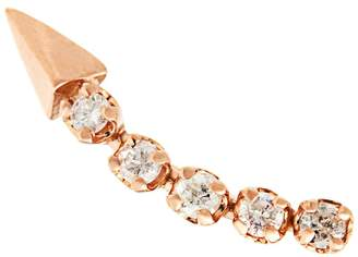 Rosegold LOREN STEWART Diamond & rose-gold single earring