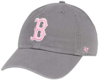 '47 Boston Red Sox Dark Gray Pink Clean Up Cap