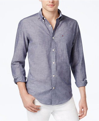 Tommy Hilfiger Men's Southern Prep Long-Sleeve Shirt $69.50 thestylecure.com