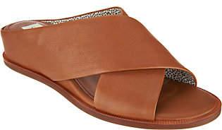 ED Ellen Degeneres Leather or Suede WedgeSlides - Treya