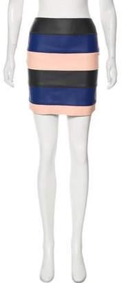 Cédric Charlier Colorblock Mini Skirt