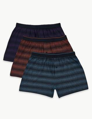 "Marks and Spencer 3 Pack Pure Cotton Cool & Freshâ""¢ Boxers"