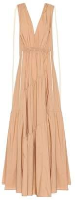 Lee Mathews Cotton-blend maxi dress