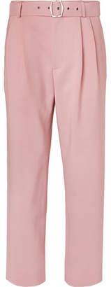 Sies Marjan Andy Wide-Leg Pleated Virgin Wool-Canvas Trousers