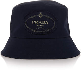 c28628a8e444e Prada Savoy Navy Canvas Bucket Hat