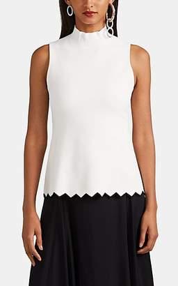 Proenza Schouler Women's Compact-Knit Peplum Top - White