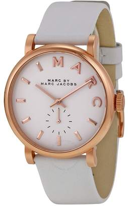 Marc By Marc Jacobs Baker White Dial White Leather Ladies Watch