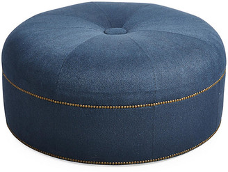 Massoud Furniture Jackson Cocktail Ottoman - Indigo Crypton