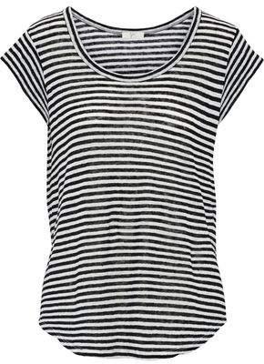 Joie Neyo Striped Linen-Jersey T-Shirt