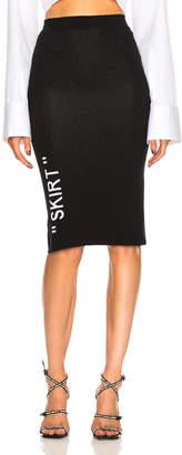 Off-White Off White Longuette Knit Skirt