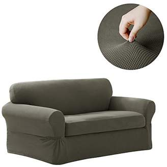 MAYTEX Pixel Stretch 2 Piece Loveseat Furniture Cover Slipcover