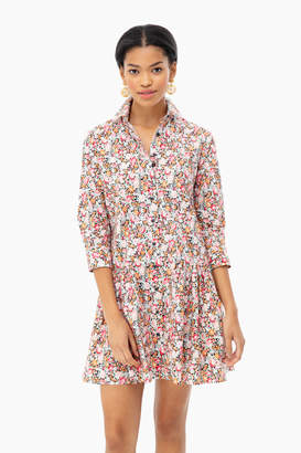 The Shirt by Rochelle Behrens Black Floral Drop Waist Shirt Dress