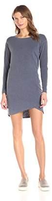 Sundry Women's Long Sleeve Assymetrical Dress