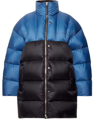 Acne Studios Oversized Two-Tone Quilted Nylon Down Jacket - Blue