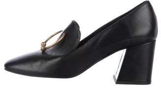 Freda Salvador Leather Square-Toe Loafers