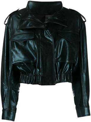 1eec9fc2c1 Norma Kamali cropped faux leather jacket
