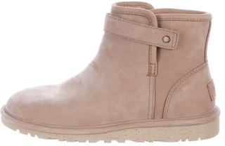 UGG UGG Australia Shearling Round-Toe Ankle Boots