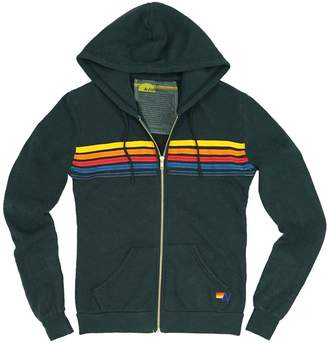 Aviator Nation Striped Cotton-Blend Hoodie