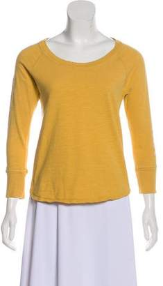 James Perse Graphic Long Sleeve Top