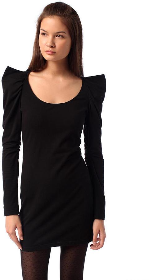 Silence & Noise Strong Shoulder Dress