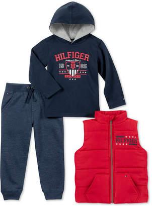 Tommy Hilfiger Baby Boys 3-Pc. Vest, Hooded Top & Jogger Pants Set