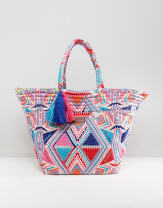 Seafolly Oversized Neon Beach Bag $114 thestylecure.com