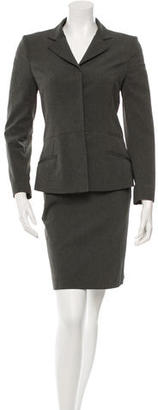 Prada Patterned Skirt Suit $130 thestylecure.com
