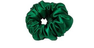 Teya Silk Scrunchie Trish Green