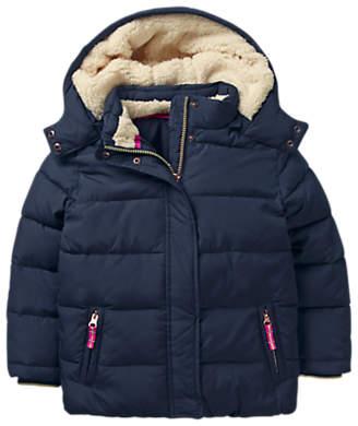 Boden Mini Girls' Cosy Padded Jacket, Navy