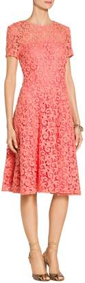 St. John Paisley Guipure Lace Dress