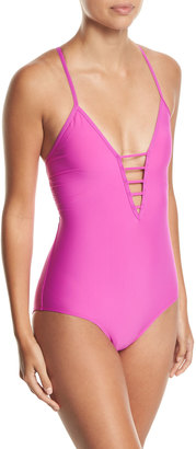 Athena Soft-Cup Strappy One-Piece Swimsuit $79 thestylecure.com