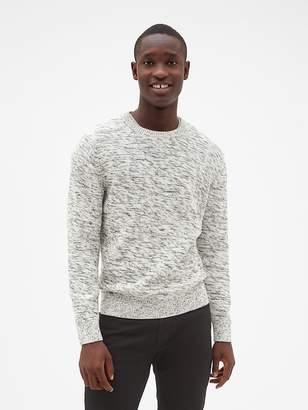 Gap Textured Marled Crewneck Pullover Sweater