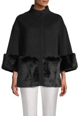 Cinzia Rocca Rabbit Fur Trim Jacket